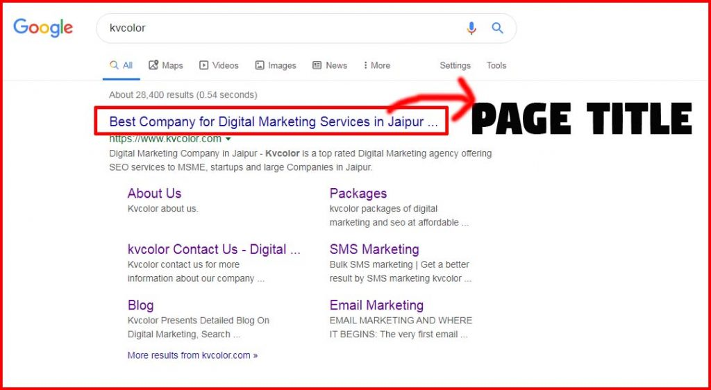 page-title-by-kvcolor-on-page-seo-company-in-india